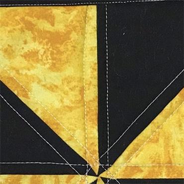 Half Square Triangle Mug Rug