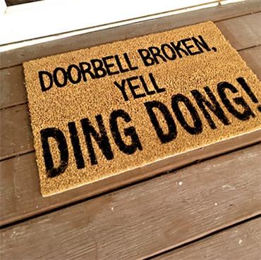 Painted Door Mat