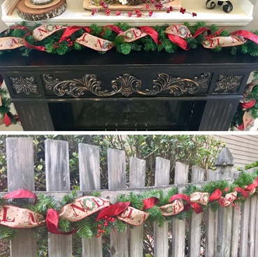 Beautiful 9ft Christmas Garland