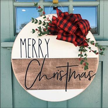 Modern Merry Christmas Door Hanger