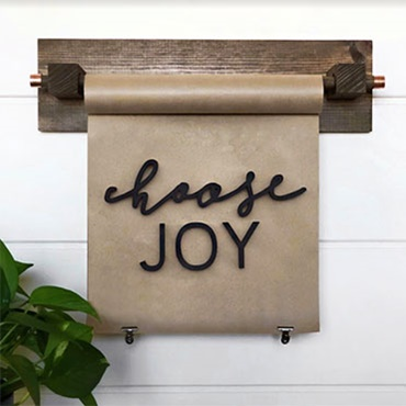 Paper Scroll Holder & Scroll Sign with 3D Words
