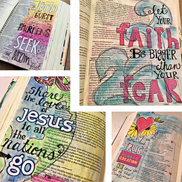 Color Techniques & Creative Tip In' for Bible Journalers