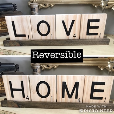 Large Scrabble Reversible Tile Art