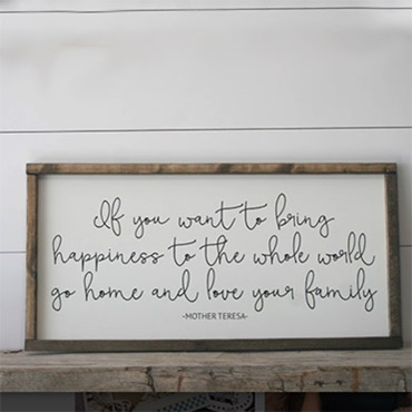 Bring Happiness Sign