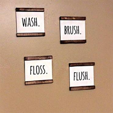 Bathroom Farmhouse Signs