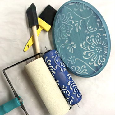 DIY Sign - Learning to Paint with Decorative Rollers