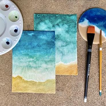Watercolor Beaches