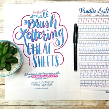"""Brush Lettering """"Cheat Sheets"""""""