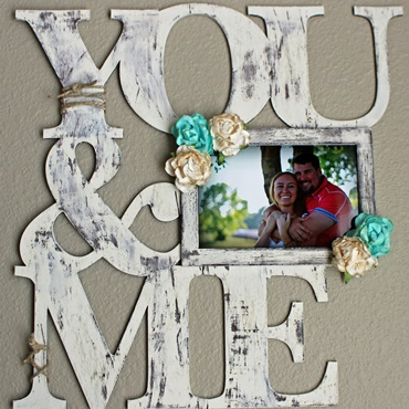 You & Me Wooden Word Frame