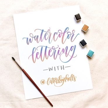 Watercolor Brush Lettering Workshop