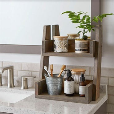 Two-Tiered Shelf